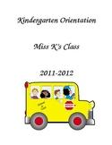 Kindergarten Orientation Packet