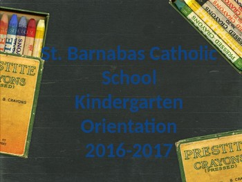 Kindergarten Orientation PowerPoint