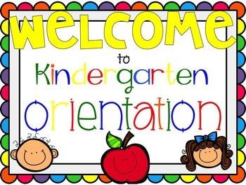 Kindergarten Orientation Presentation