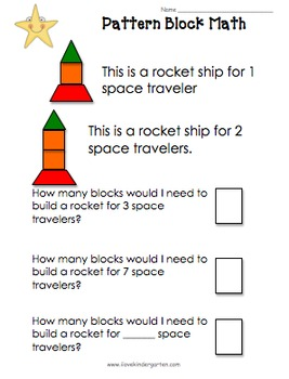 Kindergarten Outer Space Activities