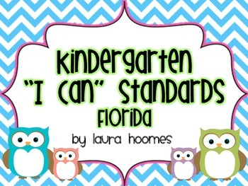 Kindergarten Owl Standards COMMON CORE Florida