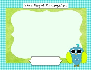 Kindergarten Owl Themed Welcome Set