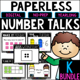Kindergarten PAPERLESS Number Talks- A YEARLONG BUNDLE