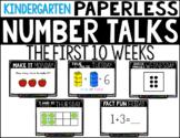 Kindergarten PAPERLESS NUMBER TALKS- The First 10 Weeks