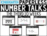 Kindergarten PAPERLESS NUMBER TALKS- The Third 10 Weeks
