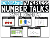 Kindergarten PAPERLESS Number Talk Sample Week