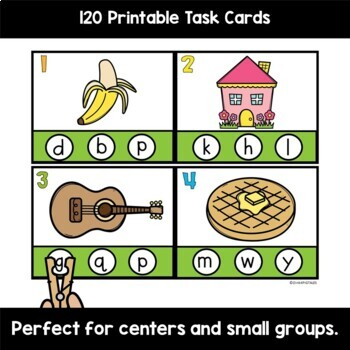 Phonics Centers Intial and Final Sounds PreK and Kindergarten