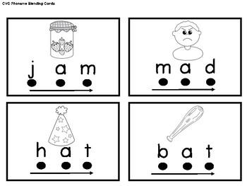 Kindergarten/PK Centers & Small Group Activities: CVC Phoneme Blending