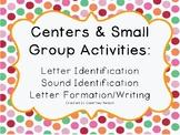 Kindergarten/PK Centers & Small Group Activities: Letter I