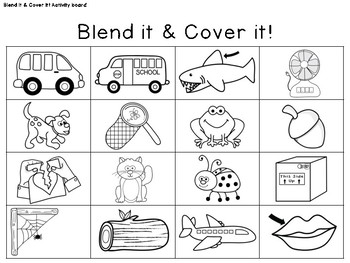 Kindergarten/PK Centers & Small Group Activities: Onset and Rime Blending