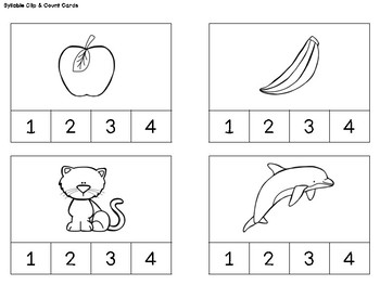 Kindergarten/PK Centers & Small Group Activities: Syllables