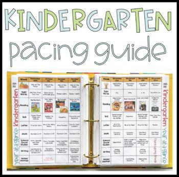 Kindergarten Pacing Guide Worksheets & Teaching Resources   TpT