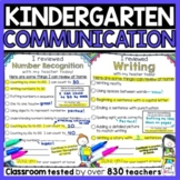 Parent Communication for Kindergarten - Kindergarten Forms