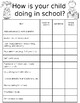 Kindergarten Parent Conference Forms