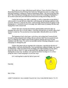 Parent Handbook Kindergarten
