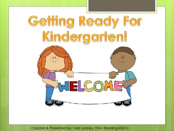 Kindergarten Parent Involvement Presentation