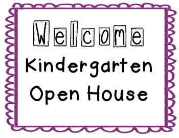 Kindergarten Parent Night Posters