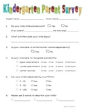 Kindergarten Parent Survey