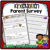 Kindergarten Parent Survey, Back to School Student Profile,  Parent Intake form