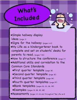 Kindergarten Parent Teacher Conference Tool Kit