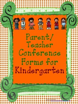Kindergarten Parent Teacher Conference with Common Core SS(Editable)