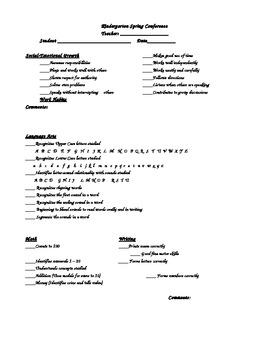 kindergarten parent teacher conference form ecza productoseb co