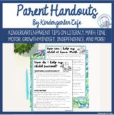 Kindergarten Parent Tips and Handouts