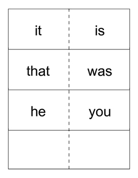 Kindergarten Pathways to Reading Sight Word Flashcards