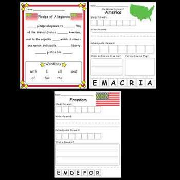 Kindergarten Patriotism / America Activities