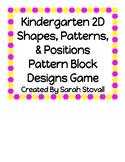 Kindergarten Pattern Block Design Game