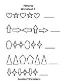 Kindergarten Pattern Recognition Worksheet3