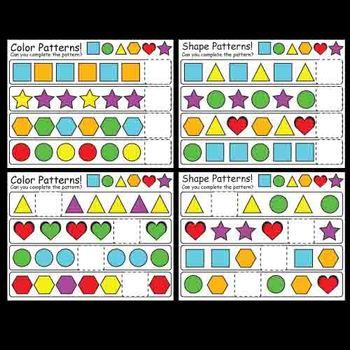 Kindergarten Pattern and Snack Pattern Activities / Centers