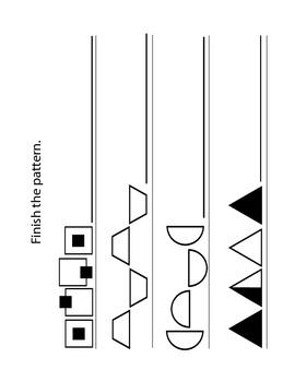 Kindergarten Patterning Pages