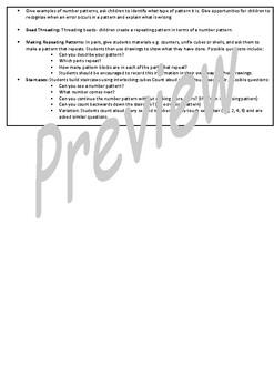 Kindergarten Patterns Smart Notebook and Unit of Work Bundle 1