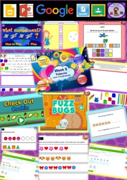 Kindergarten Patterns Smart Notebook and Unit of Work Bundle 3