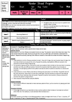 Kindergarten Patterns Smart Notebook and Unit of Work Bundle 4