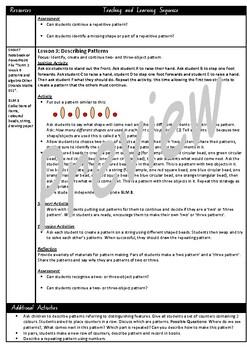 Kindergarten Patterns Smart Notebook and Unit of Work Bundle 2