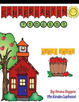 Kindergarten Pennant { apple theme }