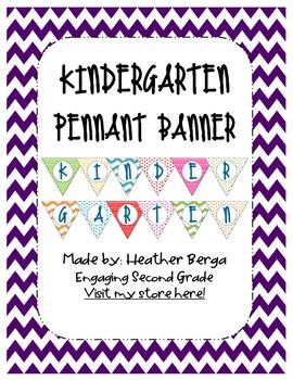 Kindergarten Pennant Banner
