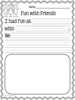 Personal Narrative Writing For Kindergarten Fun With Friends
