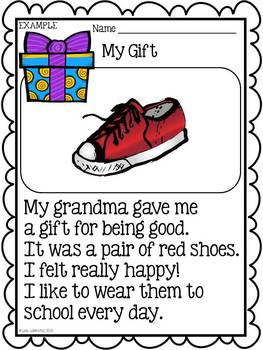 Personal Narrative Writing for Kindergarten ~ My Gift {Common Core}