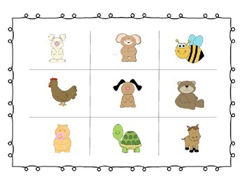 Kindergarten Phoneme Blending Animal Bingo Game-Phonemic Awareness