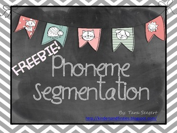 Kindergarten Phoneme Segmentation FREEBIE!