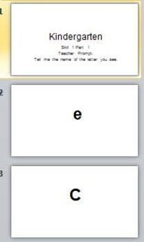 Kindergarten Phonics Assessment by Skill