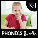 Kindergarten Phonics BUNDLE - CVC Words - Letter Sounds - Long Vowels