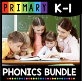 Kindergarten Phonics BUNDLE - CVC Words - Letter Sounds - Long Vowels