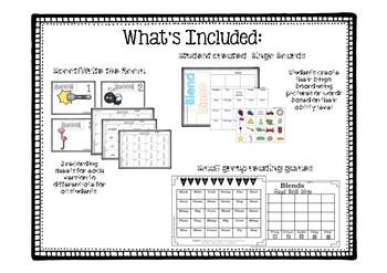 Kindergarten Phonics:  Blend games and Activities
