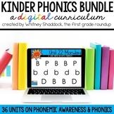Kindergarten Digital Phonics Curriculum BUNDLE
