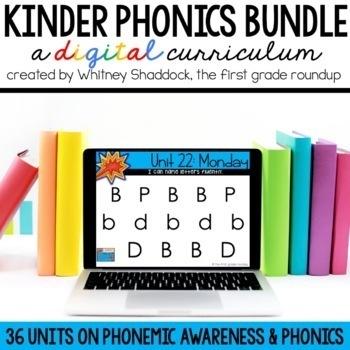 Kindergarten Phonics Digital Curriculum BUNDLE