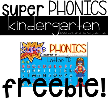 Kindergarten Digital Phonics Curriculum, Letter ID FREEBIE